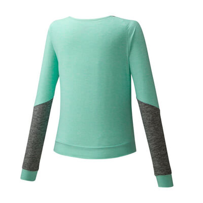Mizuno Style Ls Shirt Kadın T-Shirt Yeşil