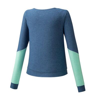 Mizuno Style Ls Shirt Kadın T-Shirt Mavi