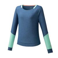 Mizuno Style Ls Shirt Kadın T-Shirt Mavi - Thumbnail