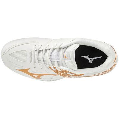 Mizuno Thunder Blade 2 Unisex Voleybol Ayakkabısı Beyaz / Sarı