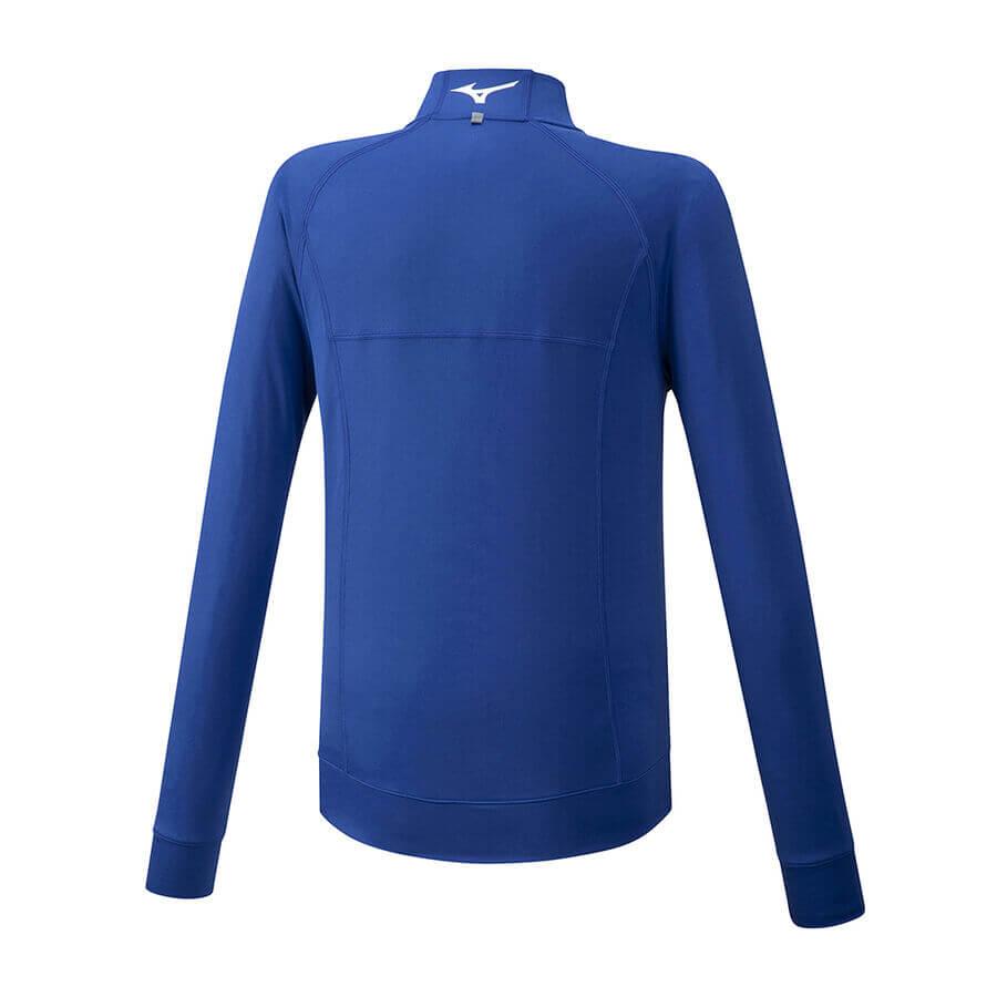 Mizuno Training Jacket Erkek Sweat Mavi - Thumbnail