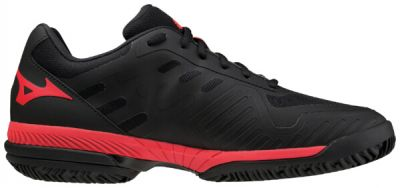 Wave Exceed Sl 2 Cc Erkek Tenis Ayakkabısı Siyah/Kırmızı