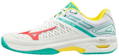 Mizuno Wave Exceed Tour 4 CC Unisex Tenis Ayakkabısı Beyaz / Yeşil