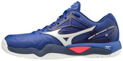 Mizuno Wave Intense Tour 5 AC Unisex Tenis Ayakkabısı Mavi