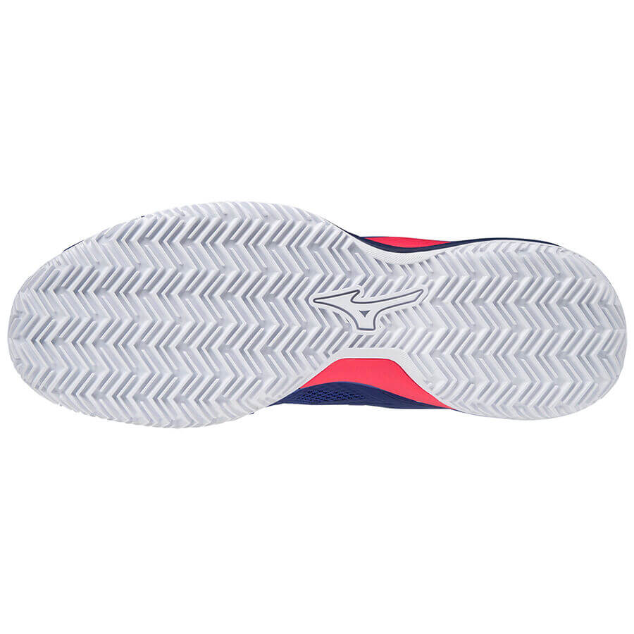 Mizuno Wave Intense Tour 5 CC Unisex Tenis Ayakkabısı Mavi - Thumbnail