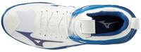 Mizuno Wave Mirage 3 Unisex Hentbol Ayakkabısı Beyaz / Mavi - Thumbnail