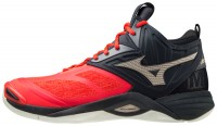 Wave Momentum 2 Mid Unisex Voleybol Ayakkabısı Kırmızı/Siyah - Thumbnail