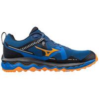Mizuno Wave Mujin 7 Erkek Koşu Ayakkabısı Mavi/Turuncu - Thumbnail