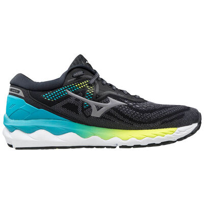 Mizuno Wave Sky 4 Kadın Koşu Ayakkabısı Siyah/Mavi