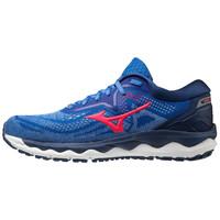 Mizuno Wave Sky 4 Kadın Koşu Ayakkabısı Mavi/Turuncu - Thumbnail