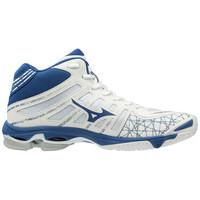 Mizuno Wave Voltage MID Unisex Voleybol Ayakkabısı Beyaz / Mavi - Thumbnail