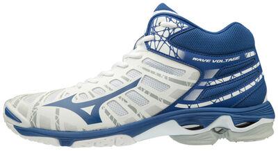Mizuno Wave Voltage MID Unisex Voleybol Ayakkabısı Beyaz / Mavi