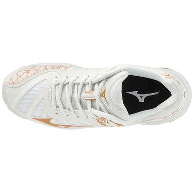 Mizuno Wave Voltage Unisex Voleybol Ayakkabısı Beyaz / Sarı