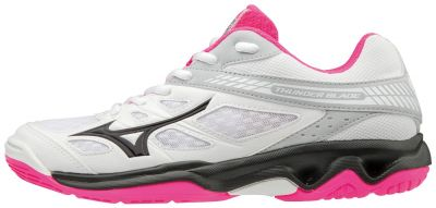 Mizuno Thunder Blade Kadın Voleybol Ayakkabısı Beyaz / Pembe