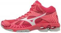 MIZUNO - Mizuno Wave Bolt 7 Mid Kadın Voleybol Ayakkabısı Pembe