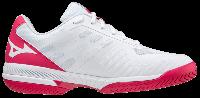 Wave Exceed SL 2 Ac Kadın Tenis Ayakkabısı Beyaz/Kırmızı - Thumbnail