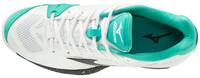 Mizuno Wave Intense Tour 5 AC Unisex Tenis Ayakkabısı Beyaz / Yeşil - Thumbnail