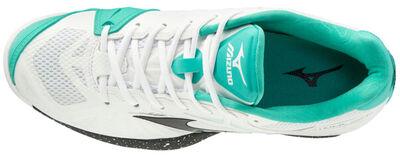 Mizuno Wave Intense Tour 5 AC Unisex Tenis Ayakkabısı Beyaz / Yeşil
