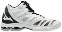 Mizuno Wave Lightning Z5 MID Voleybol Ayakkabısı Beyaz/Siyah - Thumbnail