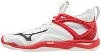 Mizuno Wave Mirage 3 Erkek Hentbol Ayakkabısı Beyaz / Kırmızı - Thumbnail