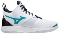 Wave Momentum 2 Mid Unisex Voleybol Ayakkabısı Beyaz/Siyah - Thumbnail