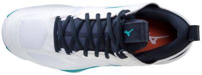 Wave Momentum 2 Mid Unisex Voleybol Ayakkabısı Beyaz/Siyah