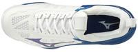 Mizuno Wave Momentum Voleybol Ayakkabısı Beyaz/Mavi - Thumbnail