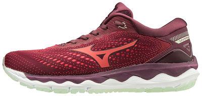 Mizuno Wave Sky 3 (W) Kadın Koşu Ayakkabısı Kırmızı